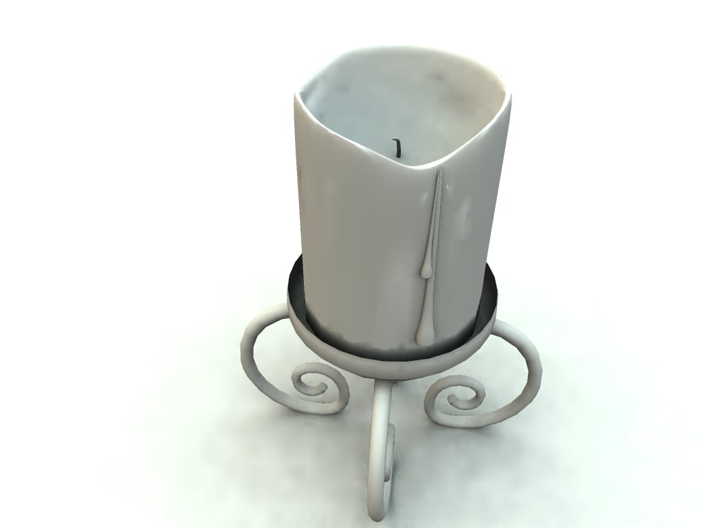 candle bryce vue 3d model