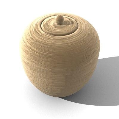 3d model vase pot