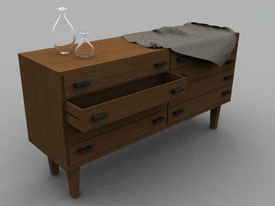 drawer handlers 3d model