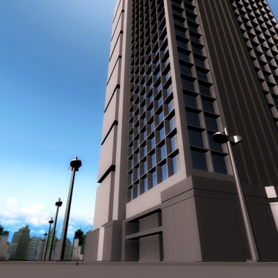 office buildings 3d model