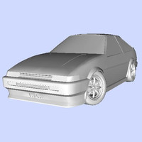 3d model ae86 toyota sprinter trueno