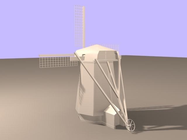 3d model dutch windmill