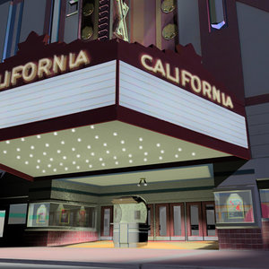 old time theater movie 3d max