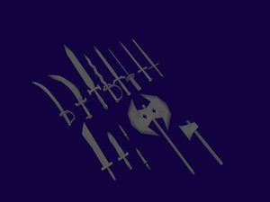 free 3ds mode medieval weapons set