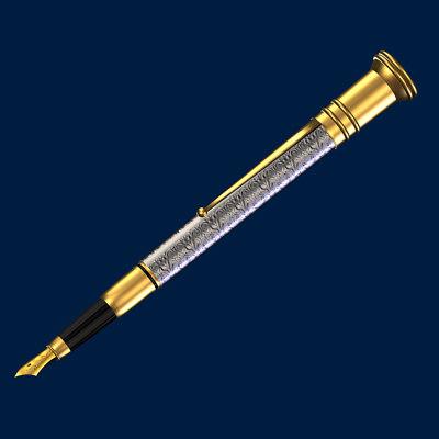 classic pen 3d model