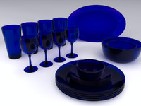 cobalt blue glasses 3d max