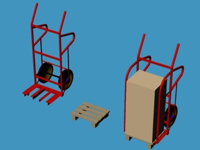 manual construction pallet lifter 3d model