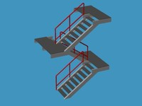 Prefabricated stairs.3ds