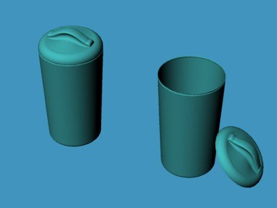 3ds 26 gallons plastic trashcan