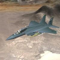 3dsmax f-15 eagle jet