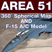 area 51 spherical dem 3d model
