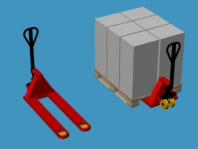 hydraulic construction pallet lifter 3d model