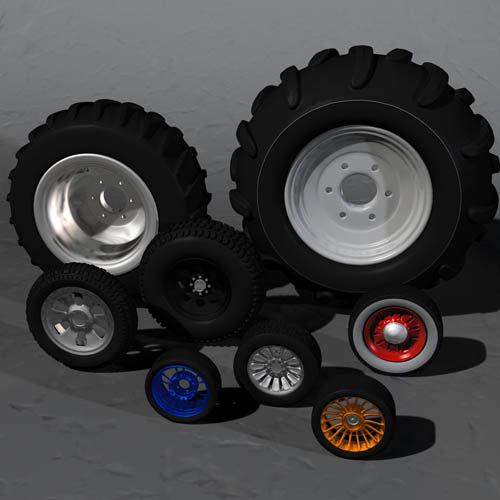 8 complete wheel sets 3d model