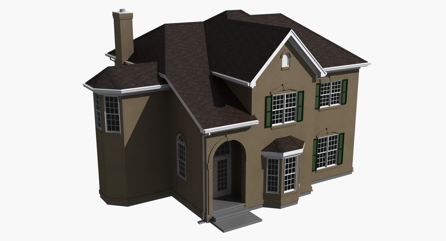 3d 3ds story house
