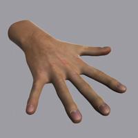 maya realistic male hand