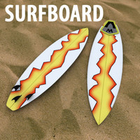 surf surfboard 3d model