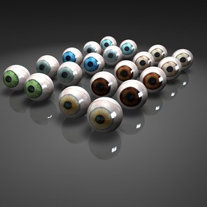 glass eyes 3d model