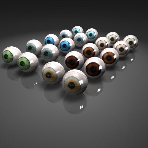 glass eyes 3d model