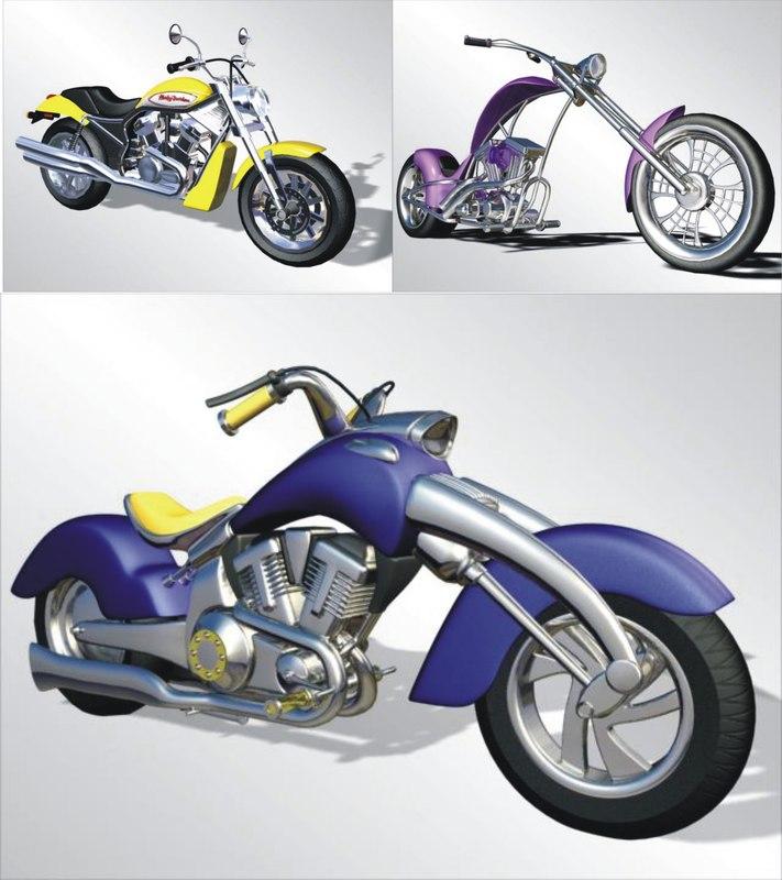 motorcycles 3d max