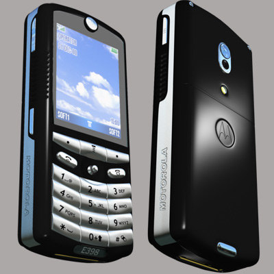 3d mobile phone motorola e398