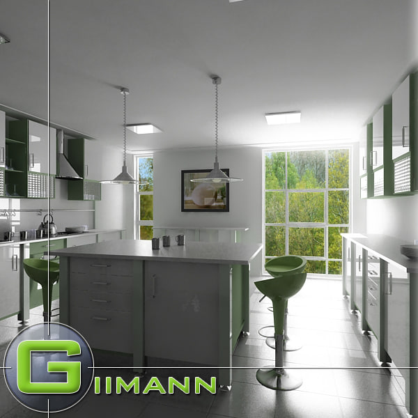 3d kitchen interior house model