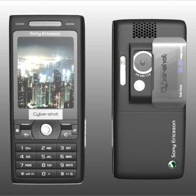 sony ericsson k800 cell phone 3d max