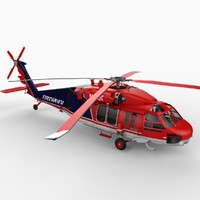 sikorsky s-70a firehawk helicopter 3d model