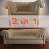 3d model sofa armchair