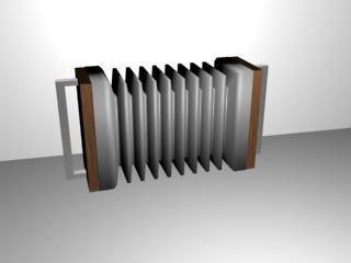 3d max musical accordian
