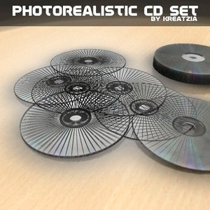 3ds photorealistic cd dvd