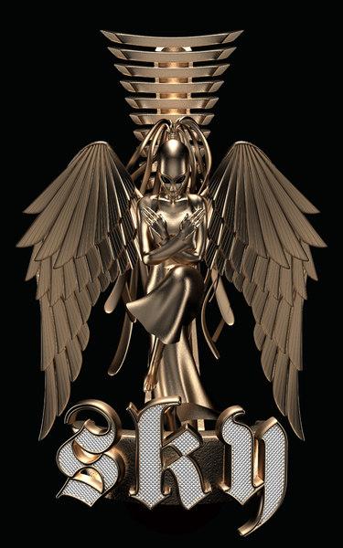 golden statuette 3d 3ds