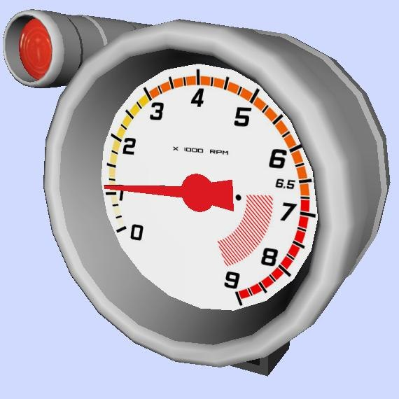 3ds max competition tacho meter