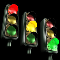 manipulated traffic light 3d max