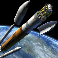 nasa rocket spacecraft 3d max