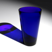 maya cobalt blue glass cup