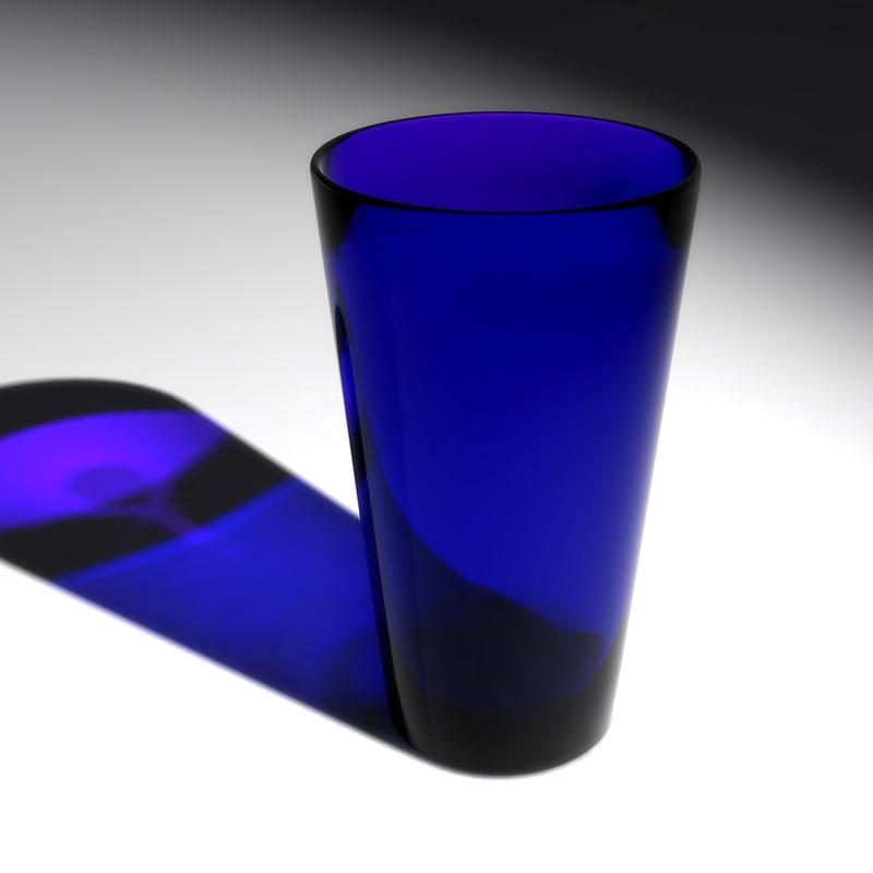 maya cobalt blue glass cup