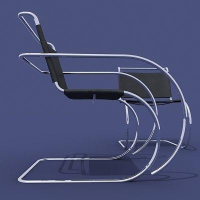 3d model mies van swinging chairs