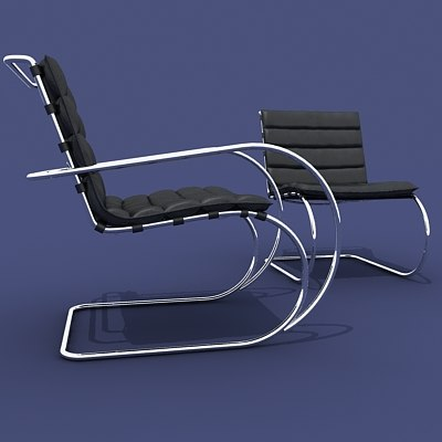 3ds max ludwig swinging chairs