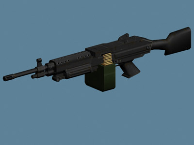 m249 weapon saw 3d model
