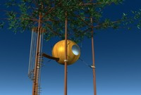 tree sphere house 3d max