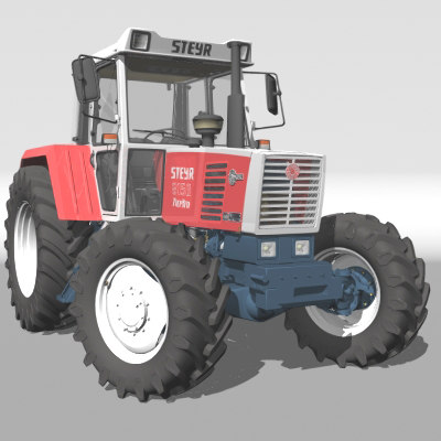 3d model of steyr 8150 tractor