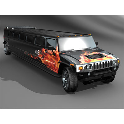 3d hummer h2 limo tuned model