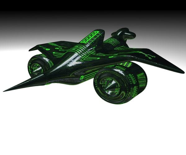 free space jet 3d model
