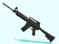 3ds max m4 machine gun