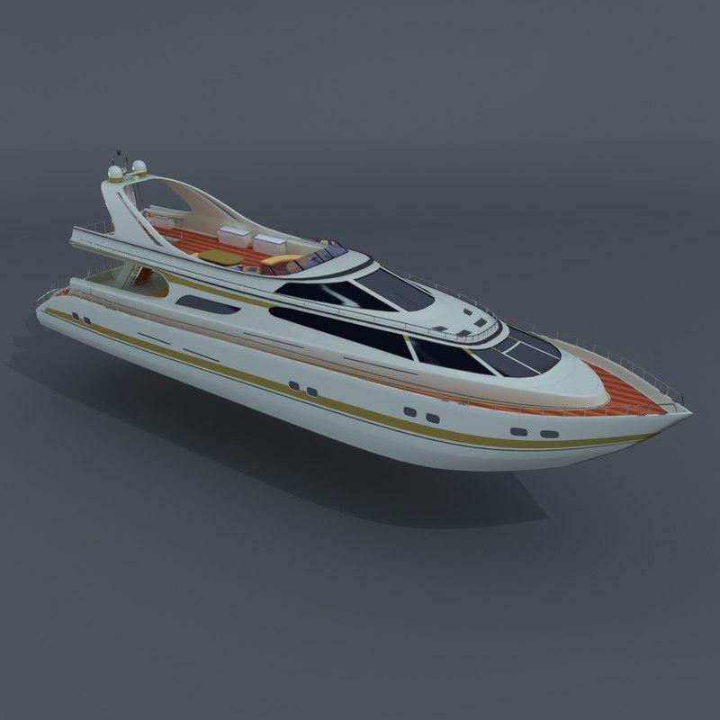 motor yacht 3d model