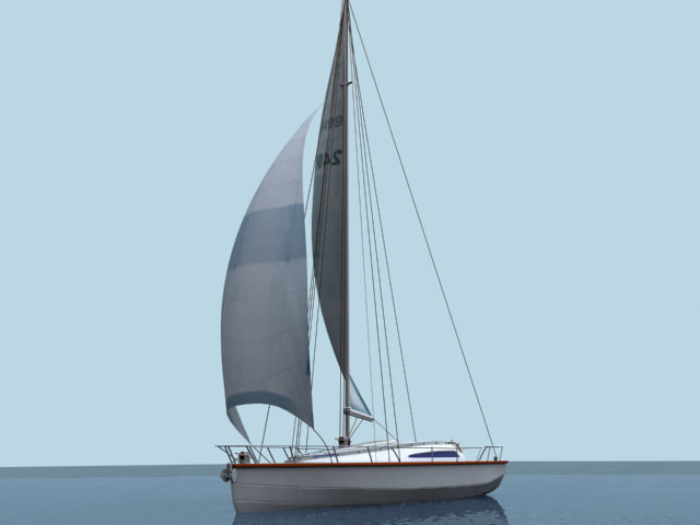 3d sail boat yacht model