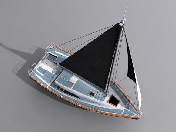 sail boat 3d max