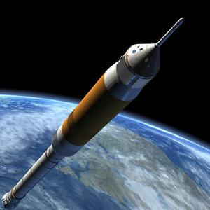 nasa rocket spacecraft 3ds