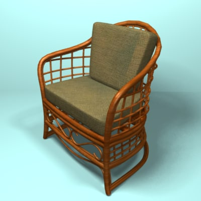rattan chair 3ds
