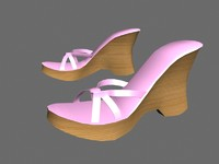 3d model of platform shoes